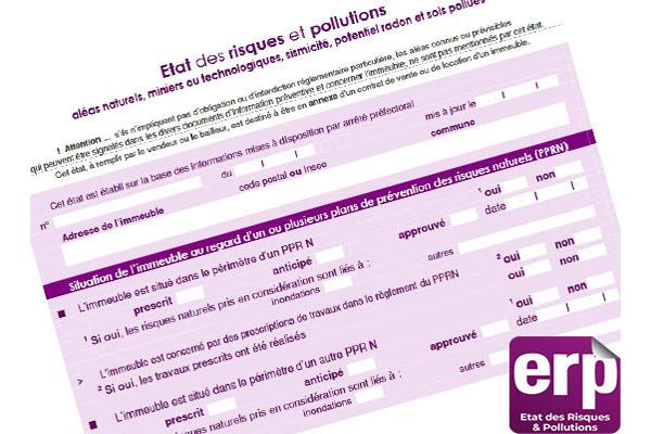 L'état des risques et pollutions (ERP) évolue à compter du 1er juin 2020